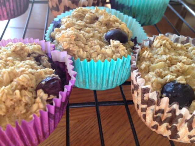 oatmal blueberry muffins