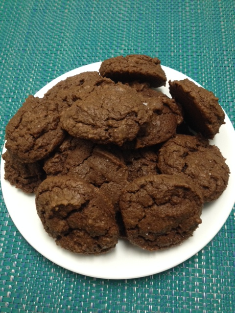 chocolate chocolate chocolate cookies, with salt
